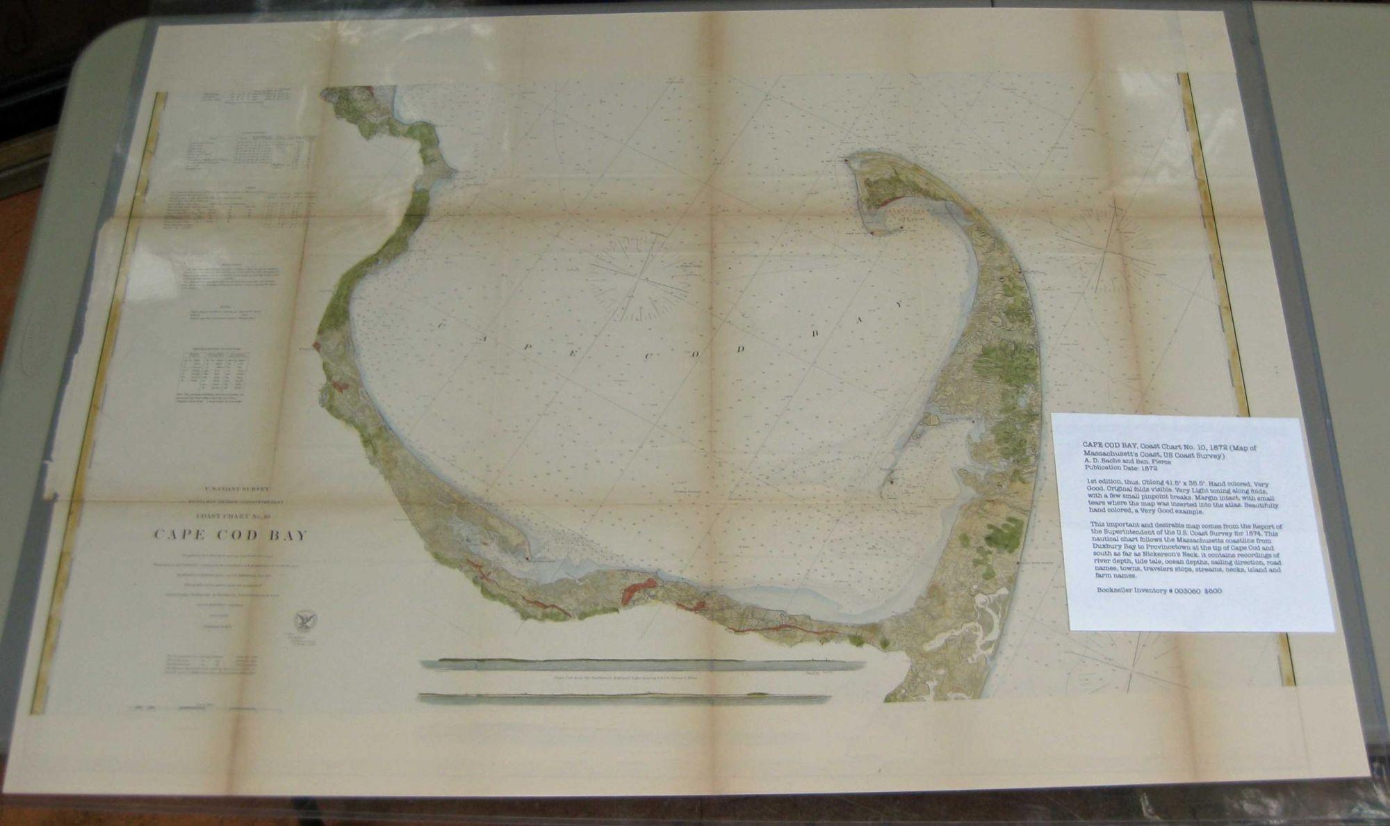 CAPE COD BAY, Coast Chart No. 10, 1872 (Map ... Machusetts On Usa Map on transportation on usa, flag on usa, people on usa, population density on usa, weather on usa, compass on usa, equator on usa,