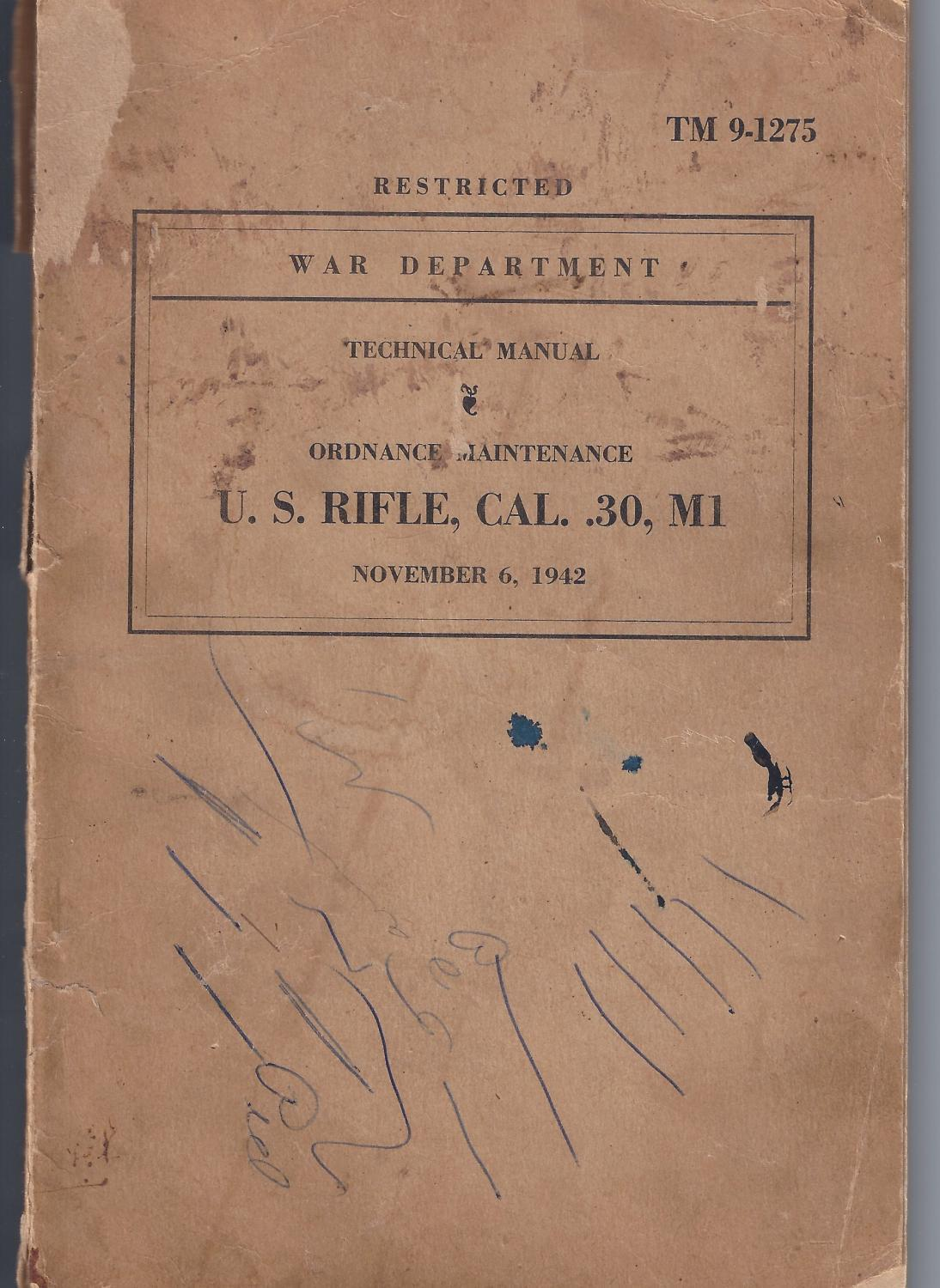 Item Name Carbine Cal 30 M1 Diagrams Pictures First Edition