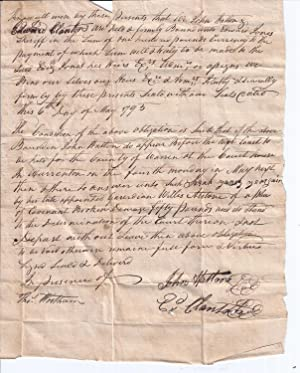 1793 Contract (with Plea of Covenant Broken)
