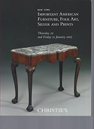 AUCTION CATALOG] CHRISTIE'S: IMPORTANT AMERICAN FURNITURE, FOLK: Christie's