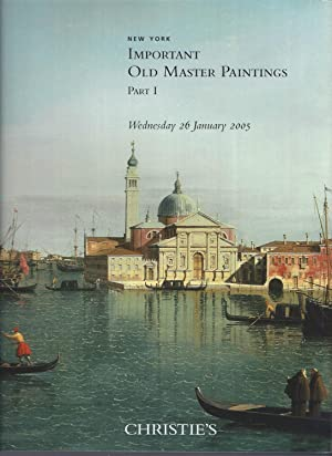 [AUCTION CATALOG] CHRISTIE'S: IMPORTANT OLD MASTER PAINTINGS: PART ONE & TWO: WEDNESDAY 26 JANUAR...