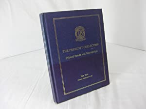 [AUCTION CATALOG] CHRISTIE'S:THE PRESCOTT COLLECTION: Printed Books And Manuscripts, New York, Fr...