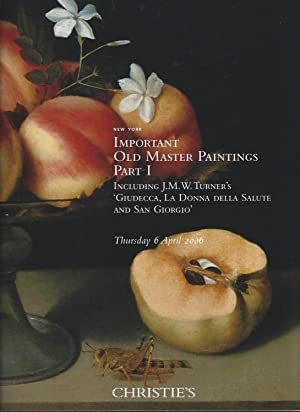 [AUCTION CATALOG] CHRISTIE'S: IMPORTANT OLD MASTER PAINTINGS: Part I & Part 2 (2 volumes, complet...