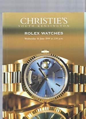 [AUCTION CATALOG] CHRISTIE'S: ROLEX WATCHES, Wednesday 16 June, 1999, South Kensington