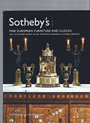 AUCTION CATALOG] SOTHEBY'S: FINE EUROPEAN FURNITURE AND: Sotheby