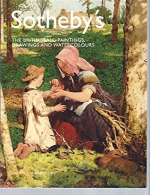 [AUCTION CATALOG] SOTHEBY'S: THE BRITISH SALE: PAINTINGS, DRAWINGS AND WATERCOLOURS; Friday, 26 M...