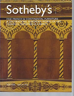 AUCTION CATALOG] SOTHEBY'S: FINE FRENCH & CONTINENTAL: Sotheby's