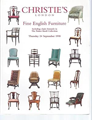 [AUCTION CATALOG] CHRISTIE'S: FINE ENGLISH FURNITURE, Including chairs formerly in The Parker Kno...