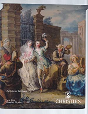 [AUCTION CATALOG] CHRISTIE'S: OLD MASTER PAINTINGS: Thursday, 5 October, 1995, New York