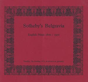 [AUCTION CATALOG] SOTHEBY'S BELGRAVIA: ENGLISH PRINTS 1900-1950, October 7, 1975, London