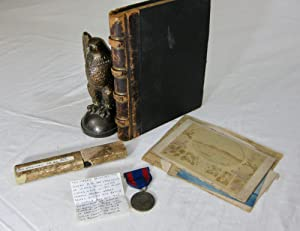SPANISH AMERICAN WAR DIARY & MEDAL FROM SAILOR ONBOARD THE U.S.S. OLYMPIA Group Contains Diary, M...