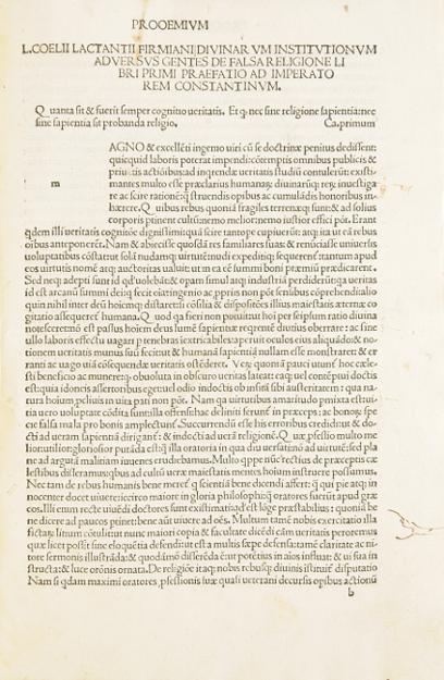 Opera. Mit Beigaben von Adam Genuensis und: Lactantius, Lucius Caelius
