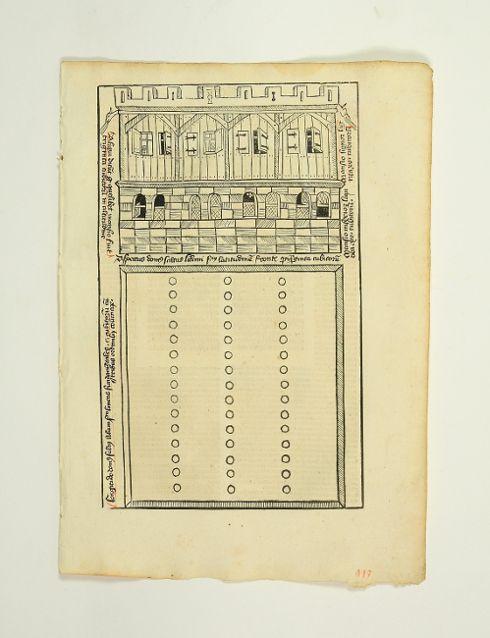 Einzelblatt mit ganzs. Textholzschnitt (25,2 x 15,5: Inkunabelblatt - Biblia