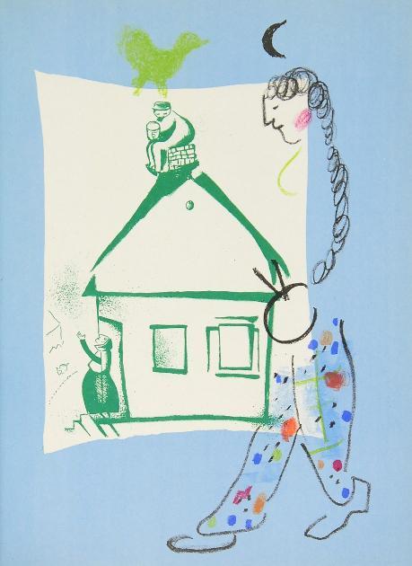 Chagall Lithograph (1922-1985). [Deutsche Ausgabe]. 6 Bände.: Chagall, Marc]. -