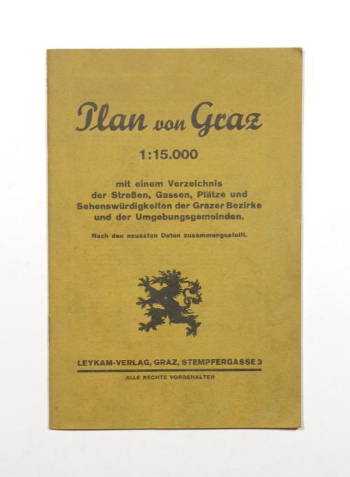 Plan von Graz. 1:15.000. Mit einem Verzeichnis: Graz].