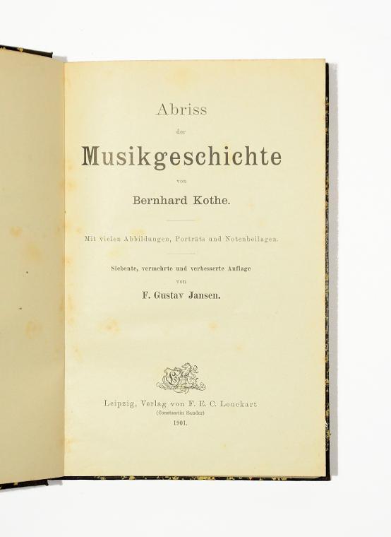 Abriss der Musikgeschichte. 7, verm. u. verb.: Kothe, Bernhard.