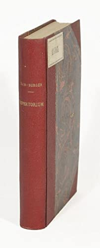 Repertorium bibliographicum in quo libri omnes ab: Hain, Ludwig]. -