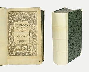 Lexicon graecolatinum per Hadrianum Juniu[s] novissime auctum.: Gesner, Konrad].