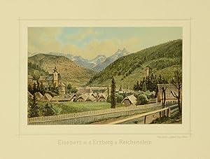 """Eisenerz m. d. Erzberg u. Reichenstein"""".: Eisenerz]."""