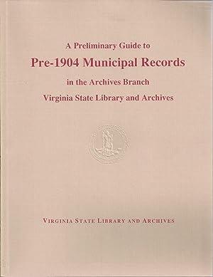 A Preliminary Guide to Pre-1904 Municipal Records: H. , Lyndon