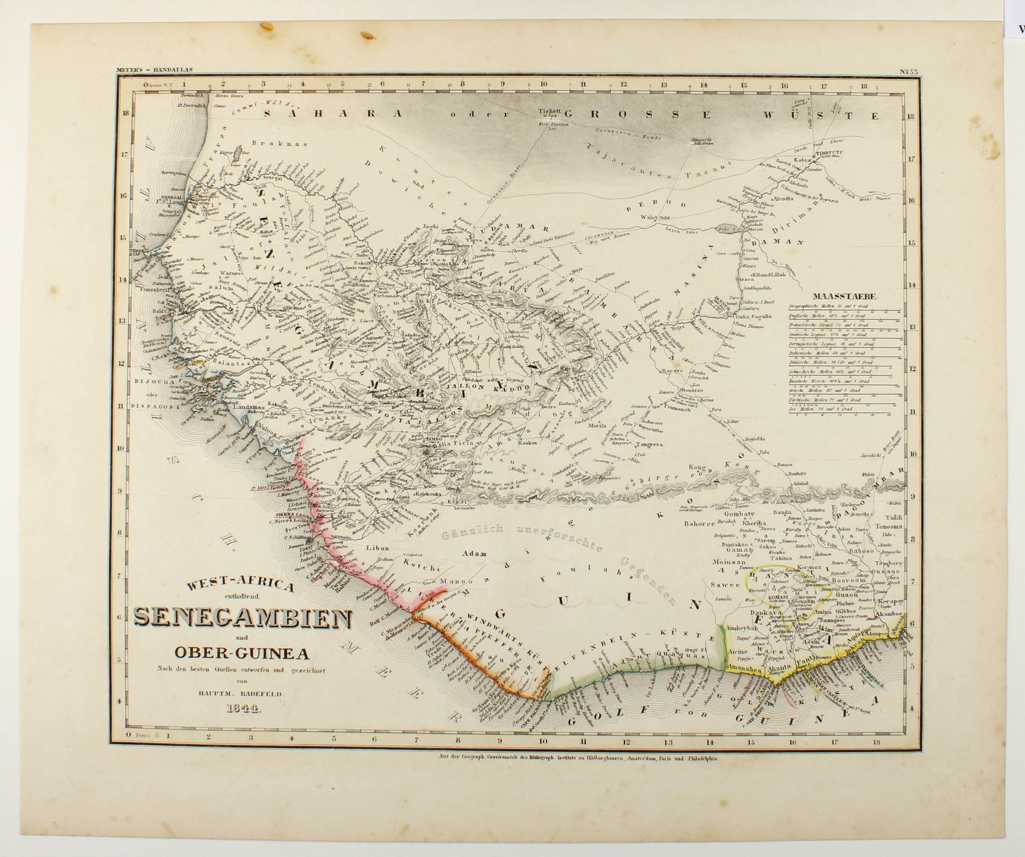West-Africa enthaltend Senegambien und Ober-Guinea 1844.: Westafrika -