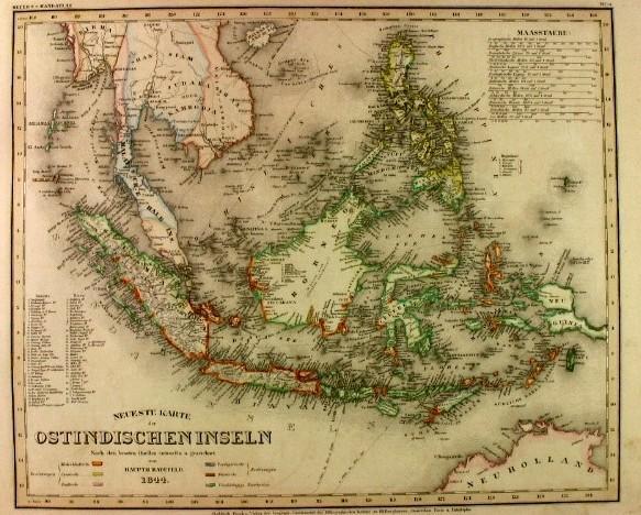 Neueste Karte Der Ostindischen Inseln 1844 Von Indonesien Karte Antiquariat Peter Fritzen