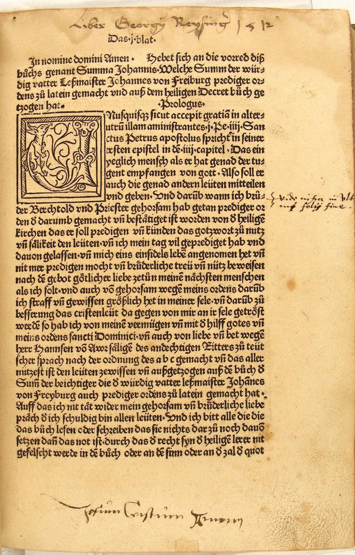 Summa confessorum, deutsch von Bruder Berthold, Prediger: Johannes [Johannes (Rumsich)
