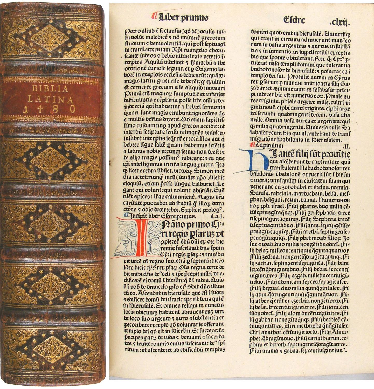Biblia latina. Mit Beigaben von Menardus Monachus.