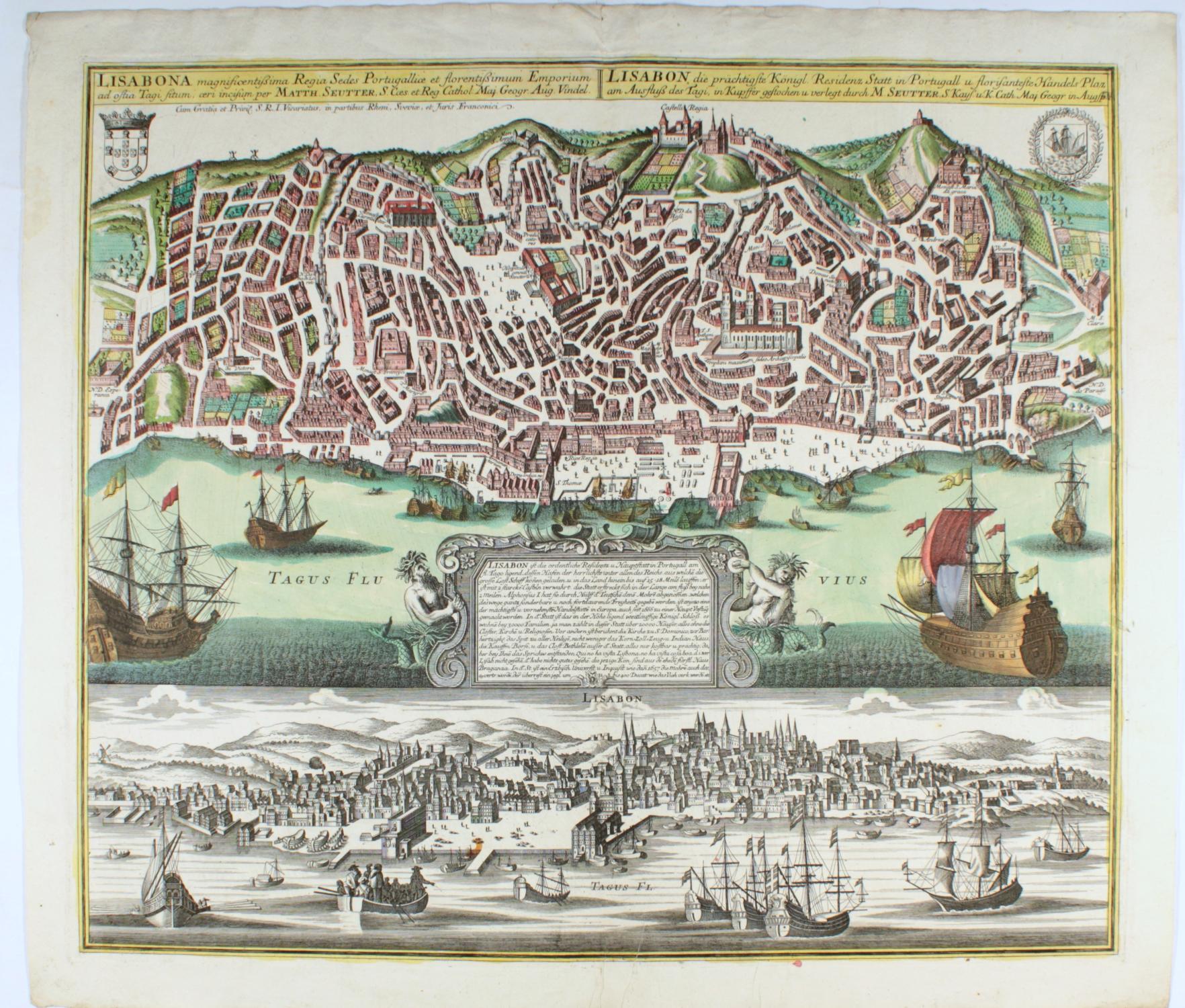 Lisabona magnificentissima Regia sedes Portugalliae et florentissimum: Lissabon - Lisboa