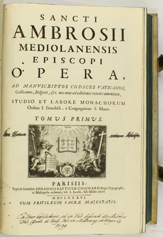 Opera, Ad Manvscriptos Codices Vaticanos, Gallicanos, Belgicos,: Ambrosius von Mailand,