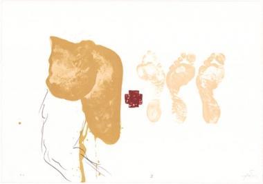 Antoni Tàpies. Originalgrafik, 1980.: Farblithografie aus »Suite 63 x 90«, WV 775.