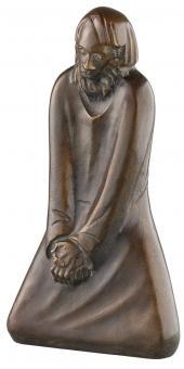 Ernst Barlach. »Der Zweifler« (1931).: Skulptur in Bronze. Limitierte Auflage. Hg. in ...