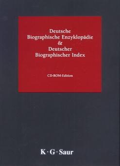 Deutsche Biographische Enzyklopädie & Deutscher Biographischer Index,: CD-ROM