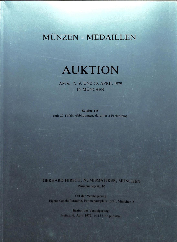 Auktion No115 67910 April 1979 München Münzen Und