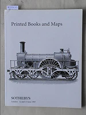Sale 12/13 June 1997: Printed Books and: SOTHEBY'S - LONDON.