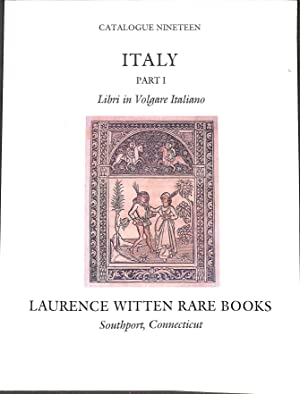 Catalogue 19/(1984): Italy, Part I: Libri in: WITTEN RARE BOOKS