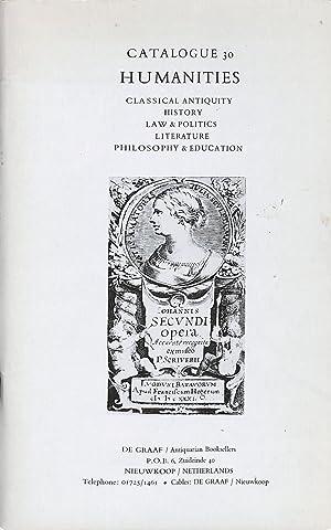Catalogue 30/1975: Humanities. Classical Antiquity, History, Law: GRAAF - NIEUWKOOP.DE