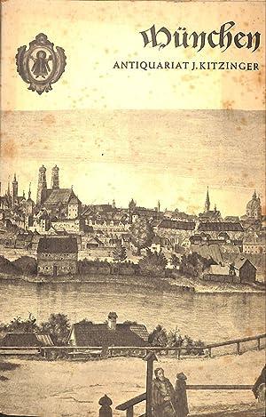 Catalogue 38/n.d.: München, Verzeichnis einer Sammlung von: KITZINGER J. -