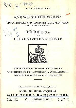 Catalogue 252/n.d.: Newe Zeitungen, Einblattdrucke und Handschriftliche Relationen des ...