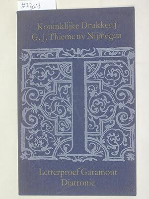 Letterproef Garamont Diatronic.: KONINKLIJKE DRUKKERIJ G.J.THIEMENV