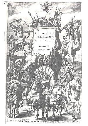Listino 3/autumno 1998: Manoscritti e Libri a: STUDIO BIBLIOGRAFICO BARDI