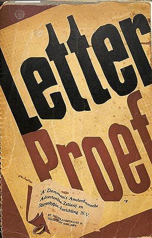Letterproef N.V. Damman's Amsterdamsche Advertentie-Zetterij, 1948.: DAMMAN, A. -