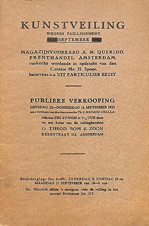 Sale 5-7 september 1933: Kunstveiling wegens faillisement.: TH. BOM -