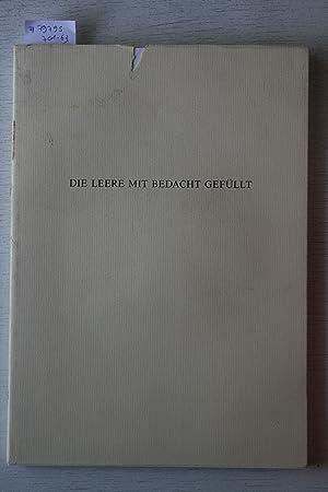 Die Leere Mit Bedacht Gefüllt. Léo Copers,: GESELLSCHAFT FÜR AKTUELLE