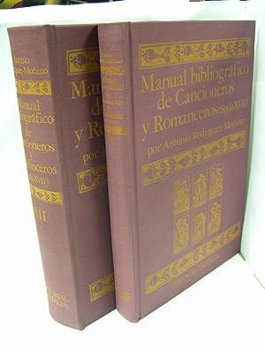 MANUAL BIBLIOGRAFICO DE CANCIONEROS Y ROMANCEROS (SIGLO XVII ) VOLUMENES I y II (OBRA COMPLETA): ...