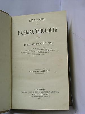 LECCIONES DE FARMACOZOOLOGIA / LECCIONES DE ZOOLOGIA FARMACEUTICA ( 2 OBRAS EN UN VOLUMEN): ...