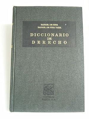 DICCIONARIO DE DERECHO: Pina, Rafael de.
