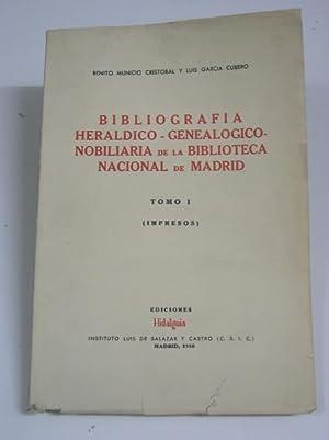 Bibliografia Heraldico - Genealogico - Nobiliaria de la Biblioteca Nacional d: Municio Cristobal, B...