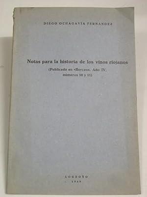 NOTAS PARA LA HISTORIA DE LOS VINOS RIOJANOS: Ochagavia Fernandez, Diego