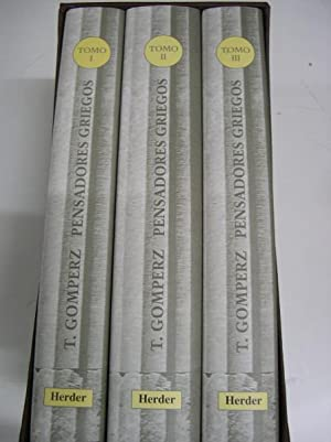 PENSADORES GRIEGOS. 3 Volúmenes. Obra completa: Gomperz, Theodor